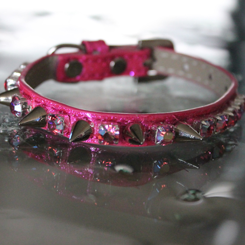 Heavy Metal Spiked Collar - Pink Inspired