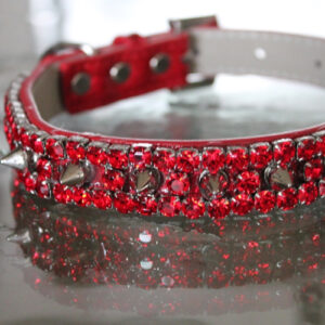 Heavy Metal Spiked Collar - Red Hot Chili Peppers Inspired