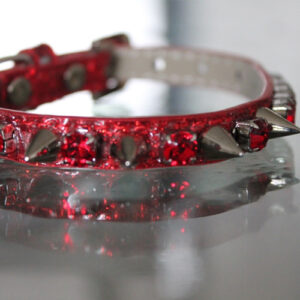 Heavy Metal Spiked Collar - Red Hot Chili Pepper Inspired